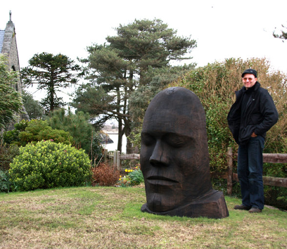 head face mask sculpture