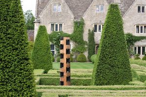 biddestone manor house cedar sculpture box topiary garden