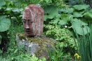 garden art sequoia head biddestone shot blasted