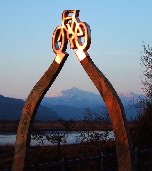 arch bike sculpture