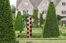 biddestone manor house cedar sculpture box topiary garden