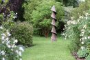 larch wood spiral scorched garden open art slaughterford